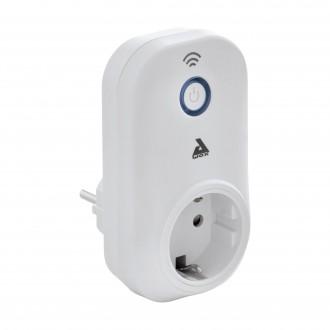 EGLO 97936 | Eglo vezérlő egység Plug Plus okos világítás kapcsoló dugaljjal ellátott, WiFi kapcsolat, Bluetooth fehér