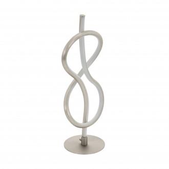 EGLO 97941 | Novafeltria Eglo asztali lámpa 41cm vezeték kapcsoló 1x LED 1000lm 3000K matt nikkel, fehér