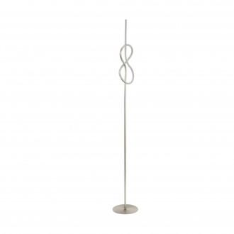 EGLO 97942 | Novafeltria Eglo álló lámpa 160cm vezeték kapcsoló 1x LED 1300lm 3000K matt nikkel, fehér