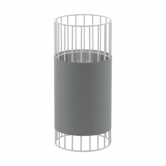 EGLO 97956 | Norumbega Eglo asztali lámpa 31cm vezeték kapcsoló 1x E27 fehér, szürke