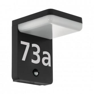 EGLO 98092 | Amarosi Eglo fali lámpa mozgásérzékelő 1x LED 1200lm 5000K IP44 fekete, fehér