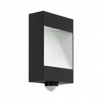 EGLO 98098 | Manfria Eglo fali lámpa mozgásérzékelő 1x LED 1000lm 3000K IP44 antracit, fehér