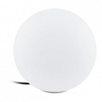 EGLO 98105 | EGLO-Connect-Monterolo Eglo dekor okos világítás gömb szabályozható fényerő, állítható színhőmérséklet, színváltós, vezetékkel, villásdugóval elátott 1x E27 806lm 2700 <-> 6500K IP65 fehér