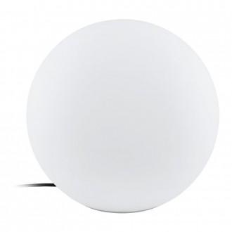 EGLO 98106 | EGLO-Connect-Monterolo Eglo dekor okos világítás gömb szabályozható fényerő, állítható színhőmérséklet, színváltós, vezetékkel, villásdugóval elátott 1x E27 806lm 2700 <-> 6500K IP65 fehér
