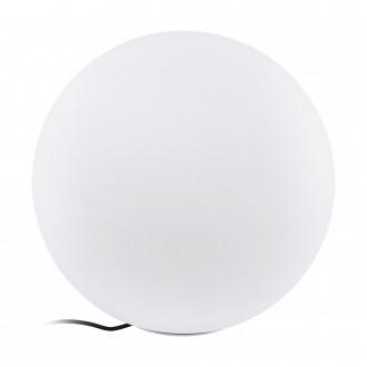 EGLO 98107 | EGLO-Connect-Monterolo Eglo dekor okos világítás gömb szabályozható fényerő, állítható színhőmérséklet, színváltós, vezetékkel, villásdugóval elátott 1x E27 806lm 2700 <-> 6500K IP65 fehér