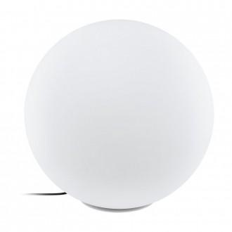 EGLO 98108 | EGLO-Connect-Monterolo Eglo dekor okos világítás gömb szabályozható fényerő, állítható színhőmérséklet, színváltós, vezetékkel, villásdugóval elátott 1x E27 806lm 2700 <-> 6500K IP65 fehér