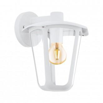 EGLO 98116 | Monreale Eglo fali lámpa 1x E27 IP44 fehér, átlátszó