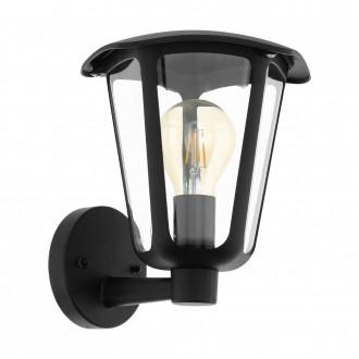 EGLO 98119 | Monreale Eglo fali lámpa 1x E27 IP44 fekete, átlátszó