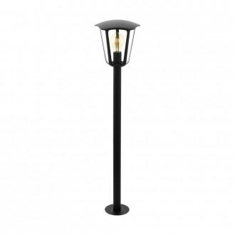 EGLO 98123 | Monreale Eglo álló lámpa 99,5cm 1x E27 IP44 fekete, átlátszó