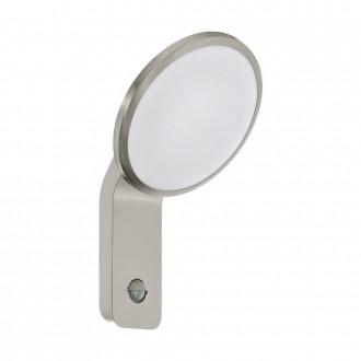 EGLO 98128 | Cicerone Eglo falikar lámpa mozgásérzékelő 1x LED 950lm 3000K IP44 nemesacél, rozsdamentes acél, fehér