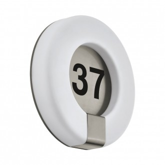EGLO 98147 | Marchesa Eglo fali lámpa kerek 1x LED 1300lm 3000K IP44 nemesacél, rozsdamentes acél, fehér