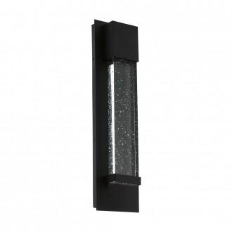 EGLO 98153 | Villagrazia Eglo fali lámpa téglatest 2x LED 680lm 3000K IP44 fekete, áttetsző, buborékos hatás