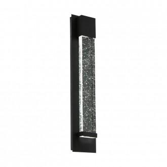 EGLO 98154 | Villagrazia Eglo fali lámpa téglatest 2x LED 680lm 3000K IP44 fekete, áttetsző, buborékos hatás