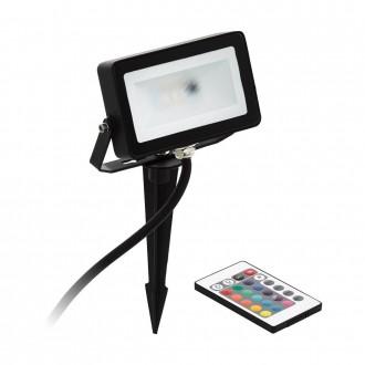 EGLO 98185 | Faedo-RGB Eglo fényvető RGB-WW leszúrható lámpa távirányító színváltós, elforgatható alkatrészek 1x LED 700lm 3000K IP44 fekete, fehér