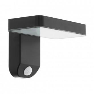 EGLO 98191 | Pation Eglo falikar lámpa mozgásérzékelő napelemes/szolár 1x LED 200lm 3000K IP44 fekete