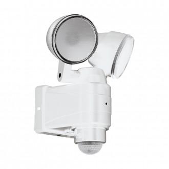 EGLO 98194 | Casabas Eglo falikar lámpa mozgásérzékelő elemes/akkus, elforgatható alkatrészek 2x LED 800lm 6500K IP44 fehér, szatén