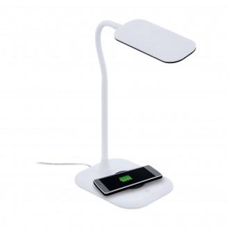 EGLO 98247   Masserie Eglo asztali lámpa 38,5cm fényerőszabályzós érintőkapcsoló szabályozható fényerő, Qi telefon töltő, mobil töltő (vezeték nélküli) 1x LED 470lm 4000K fehér