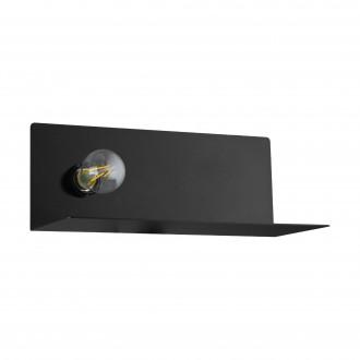 EGLO 98264 | Ciglie Eglo fali lámpa kapcsoló USB csatlakozó, telefon töltő, mobil töltő 1x E27 fekete