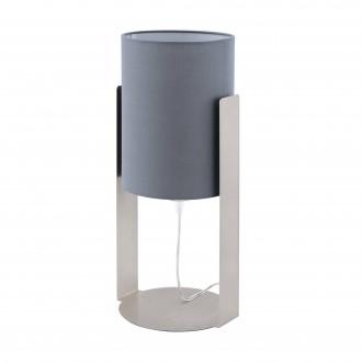 EGLO 98286 | Siponto Eglo asztali lámpa 40cm vezeték kapcsoló 1x E27 szatén nikkel, szürke
