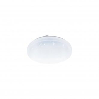 EGLO 98294 | EGLO-Access-Frania Eglo mennyezeti Access lámpa kerek távirányító szabályozható fényerő, állítható színhőmérséklet, időkapcsoló, éjjelifény 1x LED 3300lm 2700 <-> 6500K IP44 fehér, kristály hatás