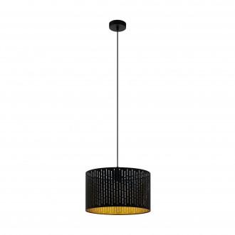 EGLO 98312 | Varillas Eglo függeszték lámpa kerek 1x E27 fekete, arany