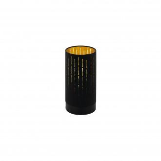 EGLO 98314 | Varillas Eglo asztali lámpa kerek 25,5cm vezeték kapcsoló 1x E27 fekete, arany