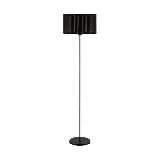 EGLO 98315 | Varillas Eglo álló lámpa kerek 151cm taposókapcsoló 1x E27 fekete, arany