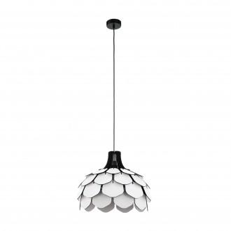 EGLO 98316   Morales Eglo függeszték lámpa 1x E27 fekete, fehér