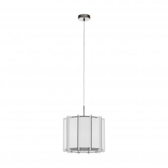 EGLO 98337   Pineta Eglo függeszték lámpa 1x E27 szatén nikkel, fehér