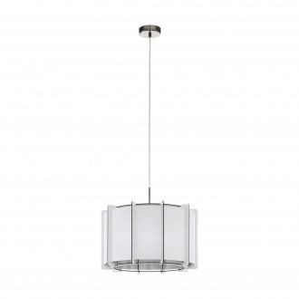 EGLO 98338   Pineta Eglo függeszték lámpa 1x E27 szatén nikkel, fehér
