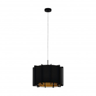 EGLO 98342   Pineta Eglo függeszték lámpa 1x E27 fekete, arany