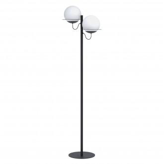 EGLO 98366 | Sabalete_Camargo Eglo álló lámpa 155,5cm taposókapcsoló elforgatható alkatrészek 2x E27 fekete, opál
