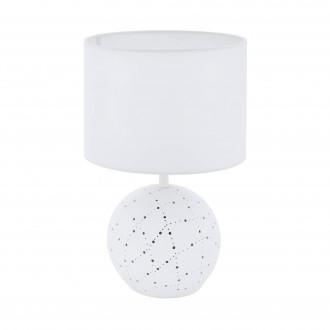 EGLO 98381 | Montalbano Eglo asztali lámpa 38,5cm vezeték kapcsoló 1x E27 + 1x E14 fehér