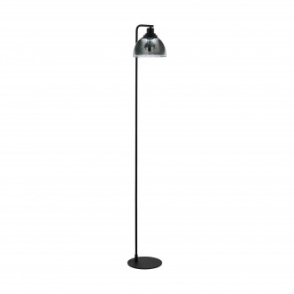 EGLO 98387 | Beleser Eglo álló lámpa 105cm taposókapcsoló 1x E27 fekete, áttetsző fekete