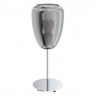 EGLO 98618   Alobrase Eglo asztali lámpa 41cm vezeték kapcsoló 4x E27 króm, áttetsző fekete