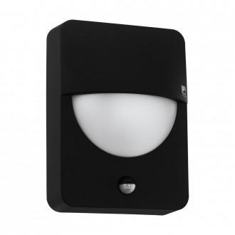 EGLO 98705 | Salvanesco Eglo fali lámpa mozgásérzékelő 1x LED IP44 fekete, fehér