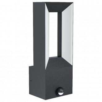 EGLO 98726 | Riforano Eglo falikar lámpa mozgásérzékelő 2x LED 1100lm 3000K IP44 antracit, fehér