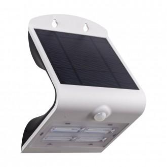 EGLO 98757 | Lamozzo Eglo fali lámpa mozgásérzékelő, fényérzékelő szenzor - alkonykapcsoló napelemes/szolár, irányfény 1x LED 440lm 4000/3000K IP44 fehér, átlátszó