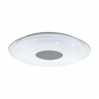 EGLO 98768 | EGLO-Connect-Lanciano Eglo mennyezeti okos világítás távirányító szabályozható fényerő, állítható színhőmérséklet, színváltós 1x LED 5000lm 2700 <-> 6500K fehér, kristály hatás, átlátszó