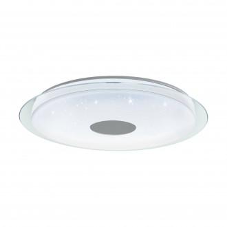 EGLO 98769 | EGLO-Connect-Lanciano Eglo mennyezeti okos világítás távirányító szabályozható fényerő, állítható színhőmérséklet, színváltós 1x LED 7000lm 2700 <-> 6500K fehér, kristály hatás, átlátszó
