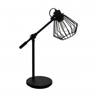 EGLO 99019   Tabillano-1 Eglo asztali lámpa 47,5cm vezeték kapcsoló elforgatható alkatrészek 1x E27 fekete