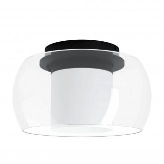 EGLO 99022 | EGLO-Connect-Briaglia Eglo mennyezeti okos világítás szabályozható fényerő, állítható színhőmérséklet, színváltós, távirányítható 1x LED 3150lm 2700 <-> 6500K fekete, fehér, átlátszó