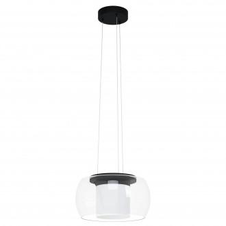 EGLO 99023 | EGLO-Connect-Briaglia Eglo függeszték okos világítás szabályozható fényerő, állítható színhőmérséklet, színváltós, távirányítható 1x LED 3150lm 2700 <-> 6500K fekete, fehér, átlátszó