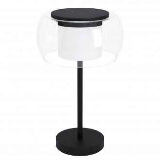 EGLO 99024 | EGLO-Connect-Briaglia Eglo asztali okos világítás 51cm vezeték kapcsoló szabályozható fényerő, állítható színhőmérséklet, színváltós, távirányítható 1x LED 1850lm 2700 <-> 6500K fekete, fehér, átlátszó
