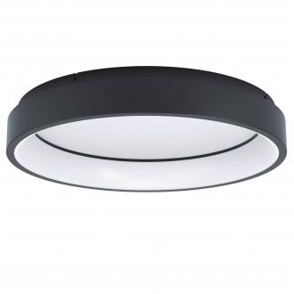 EGLO 99026 | EGLO-Connect-Marghera Eglo mennyezeti okos világítás kerek szabályozható fényerő, állítható színhőmérséklet, színváltós, távirányítható 1x LED 3200lm 2700 <-> 6500K fekete, fehér