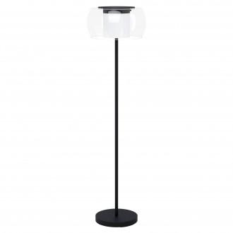 EGLO 99037 | EGLO-Connect-Briaglia Eglo álló okos világítás 152,5cm taposókapcsoló szabályozható fényerő, állítható színhőmérséklet, színváltós, távirányítható 1x LED 3350lm 2700 <-> 6500K fekete, fehér, átlátszó