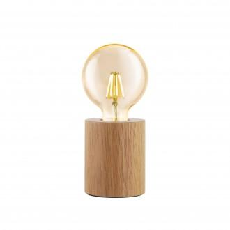 EGLO 99079   Turialdo Eglo asztali lámpa 10cm vezeték kapcsoló 1x E27 juhar