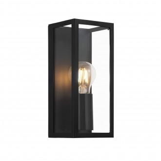 EGLO 99123 | Amezola Eglo fali, mennyezeti lámpa 1x E27 IP44 fekete, átlátszó