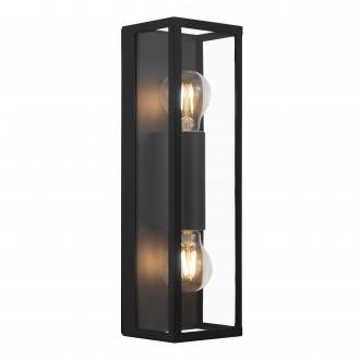 EGLO 99124 | Amezola Eglo fali, mennyezeti lámpa 2x E27 IP44 fekete, átlátszó