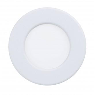 EGLO 99206 | Fueva-5 Eglo beépíthető LED panel kerek Ø86mm 1x LED 360lm 4000K IP44 fehér